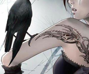 black, fantasy, and raven image