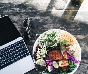 food, apple, and makeup image