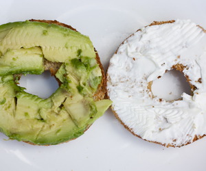 food, avocado, and bagel image