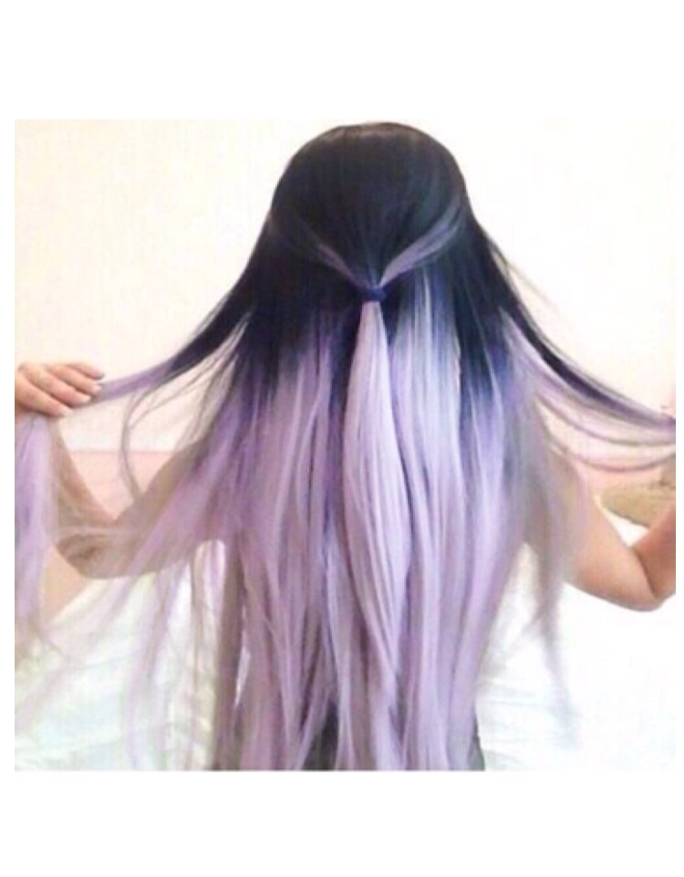 colored hair, fashion, and purple hair image