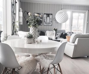 room, white, and living+room image