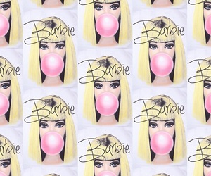 background, barbie, and bubble image