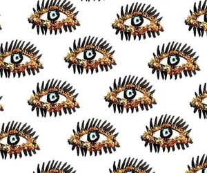 eyes, gold, and pattern image