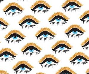 pattern, eyes, and wallpaper image