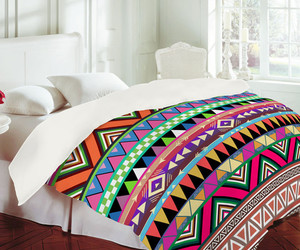 bed, aztec, and print image