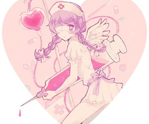 anime, girl, and nurse image