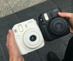 black, camera, and white image