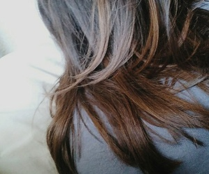 bed, girl, and brownhair image