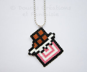beads, hama, and necklace image
