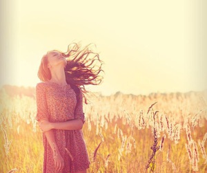 girl, freedom, and nature image