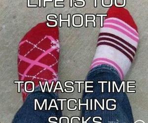 socks, life, and funny image