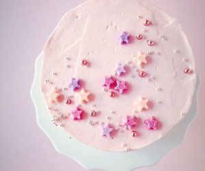 cake, pink, and star image