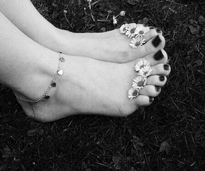 flowers, feet, and nails image