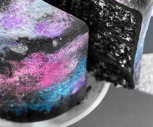 galaxy, cake, and food image