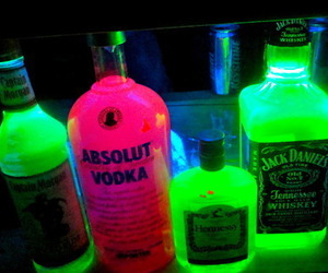 drink, vodka, and neon image