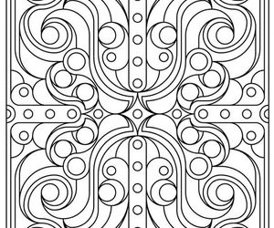 coloring pages, adult coloring book, and geomtery design image