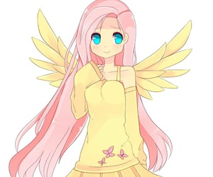 fluttershy, anime, and cute image