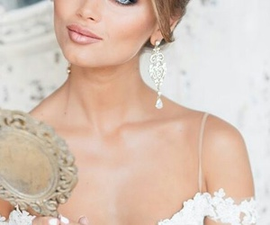 bride, makeup, and hair image