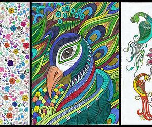lapis de cor, pavão, and canetinha image