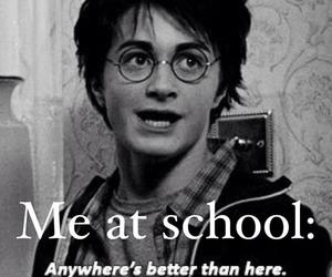harry potter, school, and funny image