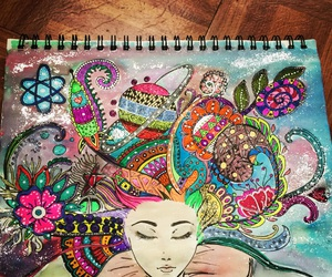 art, colorful, and doodle image