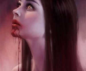 blood, vampire, and art image
