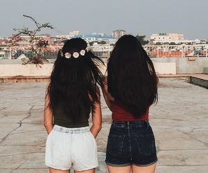 best friends, explore, and hair image