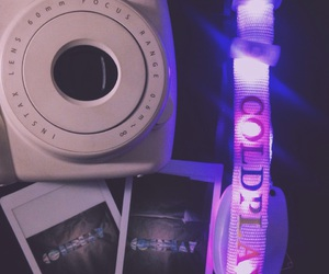 coldplay, instax, and light image