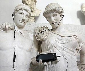 music, art, and statue image