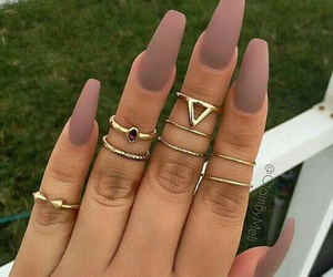 nails, rings, and Nude image