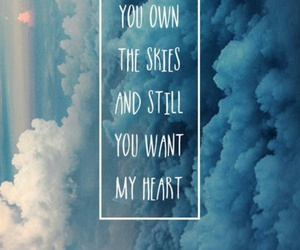 heart, quotes, and sky image