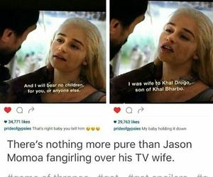daenerys targaryen, khal drogo, and game of thrones image