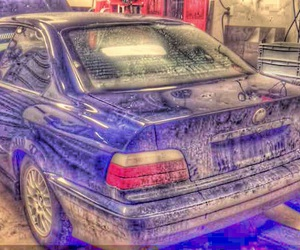 blue, bmw, and drawing image