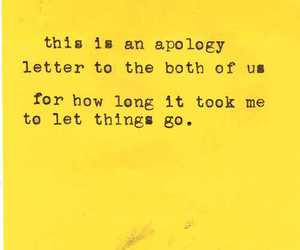 quote, apology, and text image