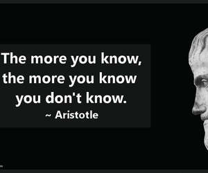 knowledge, quotes, and aristotle image