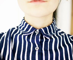blouse, collar, and stripes image
