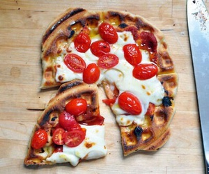 pizza, food, and waffles image