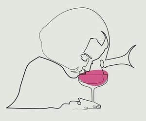 girl, wine, and art image