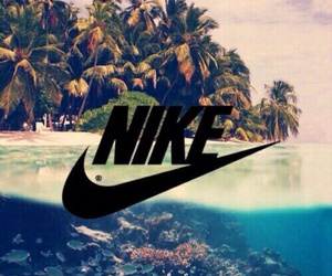 nike, beach, and sea image