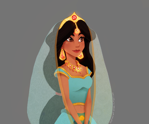 jasmine, disney, and aladdin image