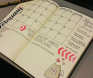 bullet journal, book, and bullet image