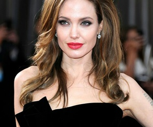 Angelina Jolie, hair, and dres image