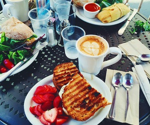 food, coffee, and strawberry image