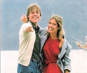carrie fisher, luke skywalker, and star wars image