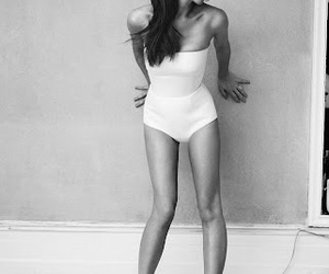 victoria beckham, black and white, and model image