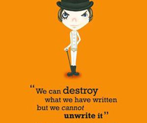 clockwork orange, destroy, and quote image