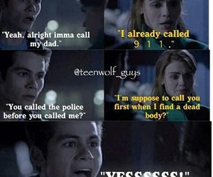 teen wolf, funny, and lydia image