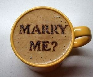 marry me, coffee, and art image