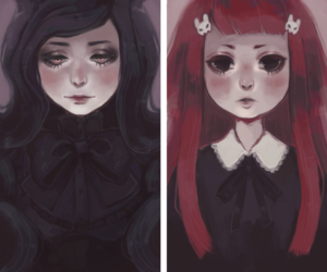 devianART, girl, and vampire image