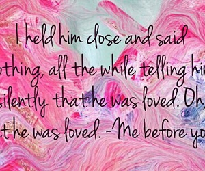 pink, quote, and jojo moyes image